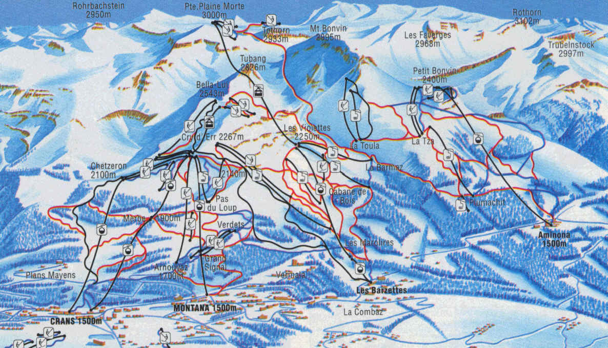 Good Skiing Crans Montana Switzerland Ski Details